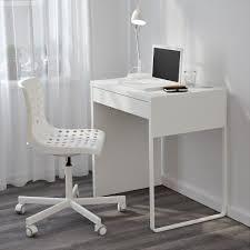 Narrow Computer Desk Ikea Micke White For Small Space Minimalist