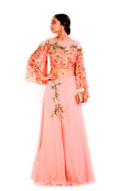 wedding dress indo sub marvellous pink color wedding wear designer georgette indo western