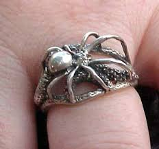 widow wedding ring black widow spider jewelry charms paperweights amulets