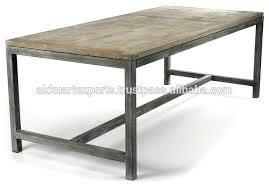 industrial kitchen table furniture industrial wood metal dining table industrial wood metal dining