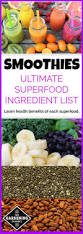 ultimate list of superfoods for smoothies fruits vegetables and more