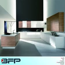 china white color lacquer and woodgrain laminated kitchen cabinets