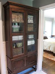 Vintage Bathroom Storage Cabinets Master Bath1 Storage Vintage Armoire And Bath