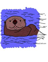 crafts sea otter coloring