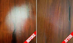 how to remove white heat spots from wood furniture the two step process that will remove burn marks in seconds