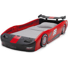 delta children turbo race car twin bed blue walmart com