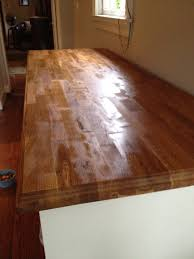 best method for treating a butcher block counter top old town home mineral oil