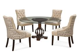 grenadine dining set with script fabric chairs deep brown