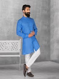 kurta colors blue color linen fabric kurta suit g3 mks0532 g3fashion com