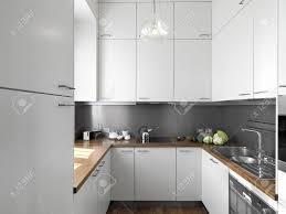 Arbeitsplatte K He Detail Kleine Weiße Moderne Küche Aus Holz Fußboden Und Holz