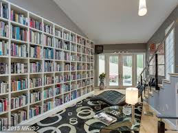 modern library with carpet u0026 flush light in mc lean va zillow
