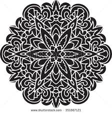 ornate mandala gothic lace tattoo celtic stock illustration