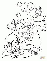 mermaid coloring pages classic disney princess