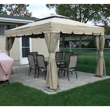 gazebo covers rona sojag 10x12 montego bay replacement canopy and netting