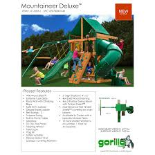outdoors playset backyard bjs swing set gorilla playsets