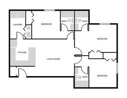 Floor Plan Of 3 Bedroom Flat 3 Bedroom Apartment Floor Plan Enclave
