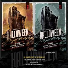 free halloween party flyer 25 party flyer template psd for summer christmas and new year