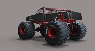 bigfoot 4 monster truck monster truck bigfoot 3d model cgtrader