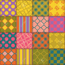 patchwork background with different patterns royalty free cliparts