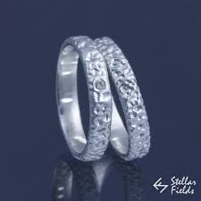 fields wedding rings textured wedding band modern ring set stellar fields