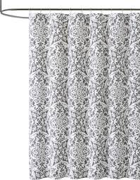 Black Grey And White Shower Curtain Geometric Floral Shower Curtain Gray And White Cotton
