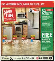 no home depot black friday ad food deals for black friday