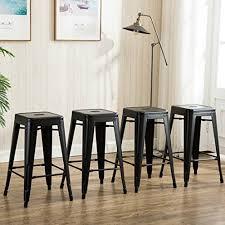 Modern Counter Height Chairs 4 Modern Counter Height Bar Stools Amazon Com