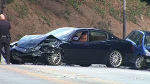 maserati woman 1 dead 3 injured in sunset boulevard crash victim id u0027d as santa