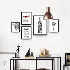 affiche deco cuisine moderne abstrait creative personnalité vin bouteille toile print