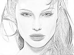 angelina jolie sketch effect graphic art design pinterest