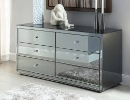 Mirrored Bedside Tables Vegas Smoke Mirrored Bedside Tables And Chest Package Mirror