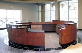 Rounded Reception Desk by Outstanding Semi Circular Office Desks View Gallery Circular Desk