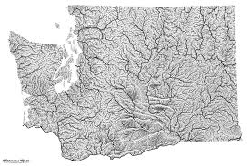 Map Of Washington State by Highly Detailed River Map Of Washington State Washington