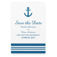 Nautical Save The Date Anchor Save The Date Refrigerator Magnets Zazzle