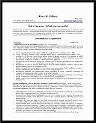 sales account manager interview questions sample resume format