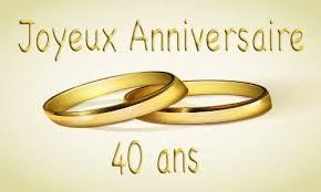 40 ans de mariage bague 40 ans de mariage votre heureux photo de mariage