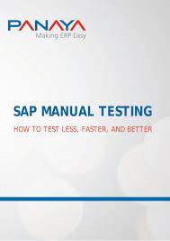 sap manual testing