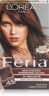 hair color for 45 cool l oreal paris feria hair color 45 deep bronzed brown french