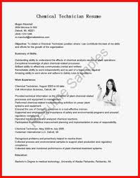 Sample Resume For Lab Technician by Lab Tech Resume Virtren Com