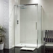frontline aquaglass luxury sliding shower door with optional side