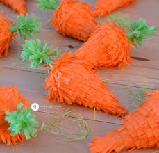mini easter piñatas make your own carrot pinata bystephanielynn