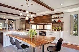 cuisine contemporaine blanche et bois mod le de cuisine contemporaine blanche et bois pour apparier
