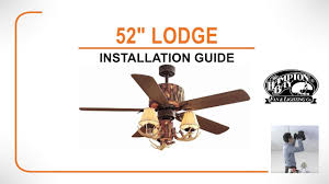 Lodge Ceiling Fans With Lights 52 Lodge Ceiling Fan Installation Guide