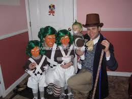 Oompa Loompa Halloween Costumes Coolest Willy Wonka Oompa Loompa Family Costumes Buy