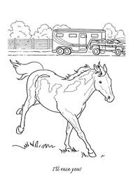 coloring pages horse trailer coloring pages