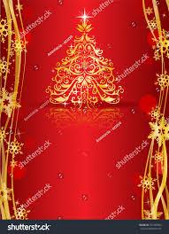 ornate golden tree on stock vector 743185066
