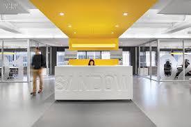 Reception Desk Definition Corporate White Reception Desk Yellow Striped Ceiling Pinteres