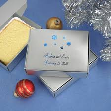 wedding cake boxes custom printed winter theme cake slice favor boxes set of 50