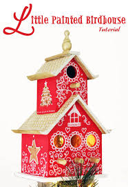 painted birdhouse tree topper tutorial pretty handy craft