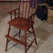 Antique Wooden High Chair Find More Reduced Old Wood Antique Baby High Chair 39 H For